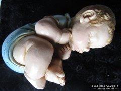 Rendkivüli , fiú kisbaba jelzett kerámia igényes