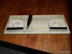 Antik márvány kalamáris - íróasztal dísz- tinta és tolltartó