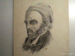 Turbános férfi portré.19.szd.