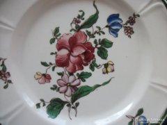 Royal Coppenhagen antik dán virágos tányér-20 cm