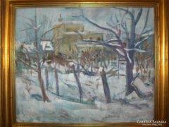Vályi Csaba festménye:Téli táj  c.