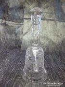 Csodaszép kristály csengettyű 16 cm