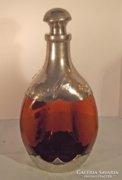 Likőrös üveg ón szerelékkel, Zeister Pewter