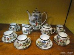 6 személyes japán porcelán kávés-, teáskészlet