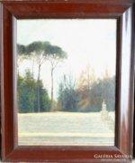 Ismeretlen művész: Parkrészlet, lépcsővel, 1920 k.