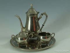 Ezüstözött szecessziós teás készlet
