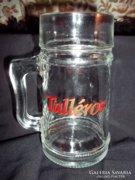 Talléros üveg söröskorsó, 0.5 literes