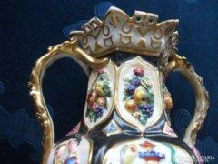 1840 Jacob  Petit Sevres valamikor restaurált porcelán váza-19 cm