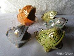 Iparművészeti porcelán HAL gyüjtemény öt darabos