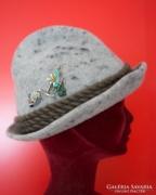 Osztrák vadász, filc kalap, vadászkalap
