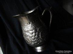 SZECESSZIÓS ezüstözött szöllö jegesvíz kancsó 1918