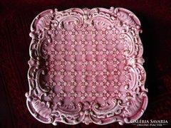 SZECESSZIÓS Schütz Cilli majolika rózsaszín 1908