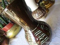 ART DECO jelzett kerámia dísz váza - kaspó FAJANSZ