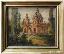 A szegedi Kálvária Kápolna, olajfestmény