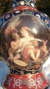 Keleti kézi festésű váza