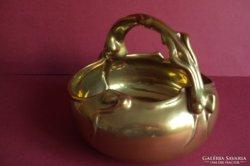 Eladó nagyon ritka Zsolnay arany eozin füles kosár