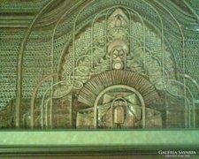 Wrábel Erzsébet csodálatos nagyméretű textil képe