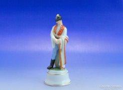 0A837 Antik mini herendi porcelán juhász figura