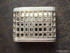 Herendi áttört porcelán cigaretta kináló, ritka