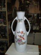 Hollóházi porcelán füles váza