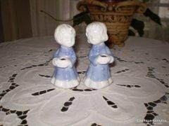 Két kis angyalka gyertyatartó
