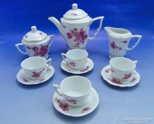 0A858 Régi Zsolnay porcelán kávés készlet