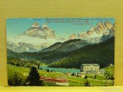 0A902 Régi képeslap Grand Hotel Misurina