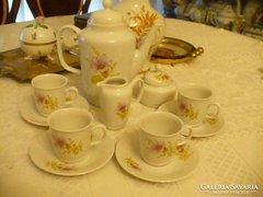 MZ-s Csehoszlovák porcelán kávéskészlet