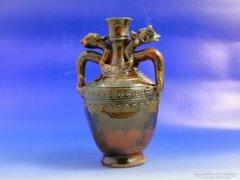0B324 Keleti sárkány motívumos kerámia váza