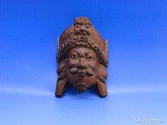 0B378 Régi kínai fali maszk fafaragás