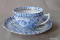 Antik porcelán teáscsésze aljjal, Rosslau, 1927-35 között