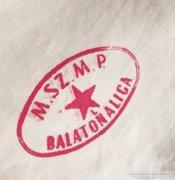 M.Sz.M.P. Balatonaliga, 1953 Honvédség törölköző