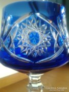 Kristály kehely, 6 db. gyönyörű kék