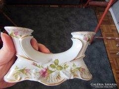 Rózsás porcelán gyertyatartó (lengyel)