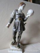 HERENDI Hamlet figura kézzel festett KOPONYA