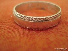 925-ös ezüst gyűrű gravírozott belül