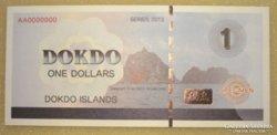 Dokdo 1$ Japán szigetek (specimen-MINTA) 2013 UNC