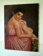 Jelzett antik festmény !