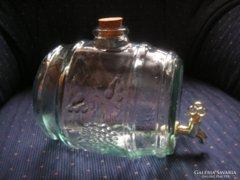 Ágyas Pálinkás hordócska üvegből