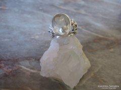PAZAR fazettált hegyikristály ezüstgyűrű ezüst gyűrű 925