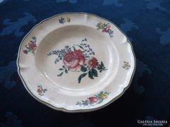 1874 Villeroy&Boch rózsás tányér-25x4 cm