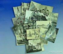 0A932 Régi képeslapok városképek 16 db