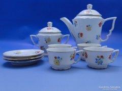 0B543 Régi Zsolnay porcelán kávés készlet