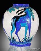 Boch Fréres ART DECO váza, 1925 körül