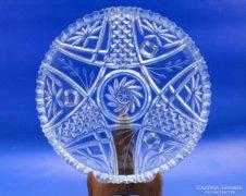 0B633 Nagyméretű háromlábú üveg asztalközép kínáló