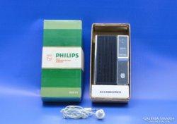 0B029 Retro PHILIPS zsebrádió dobozában