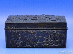 0B435 Régi virágos bronzirozott ékszertartó