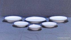 0B647 Antik cseh porcelán tányér készlet 12 db