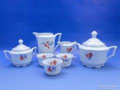 0B648 Régi KARLSBAD porcelán kávés készlet