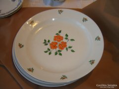 Zsolnay virágos lapos tányér   6 DARAB
